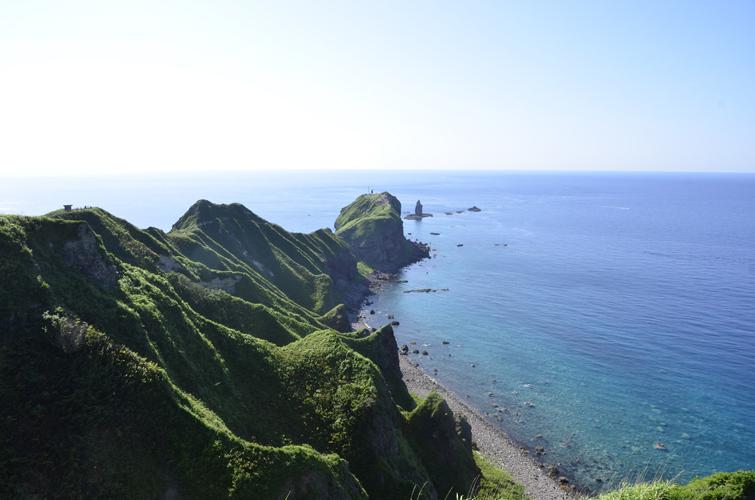 夏の神威岬