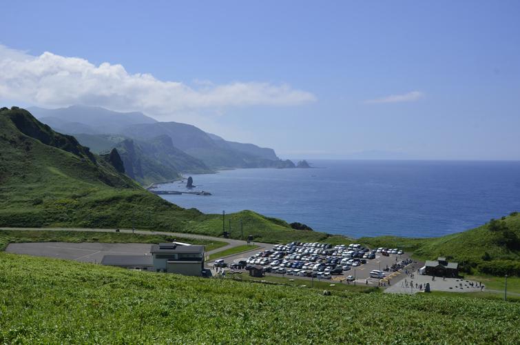 神威岬の管理棟。