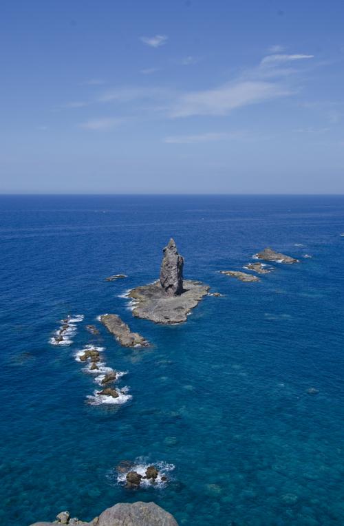 夏の神威岬_神威岩